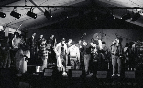 Rido Bayonne & musicians at sound check 1994