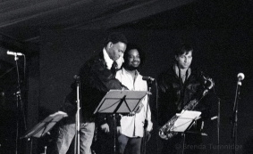 Pierre Chabrèle accompanies Rido Bayonne, open air concert, Théâtre de l'Odéon, Paris 1994